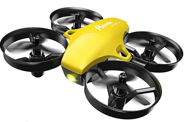 Potensic A20 jaune minidrone helicoptere avec 21 minutes dautonomie de vol