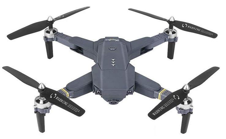 drone FPV de la marque OBEST gris noir et jaune