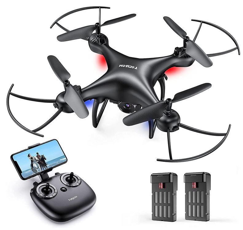 drone Tomzon FPV noir avec maintien daltitude et camera HD 1080p