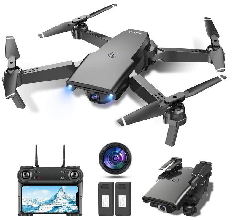 drone avec camera de 1080p hd de la marque tech rc drone noir pliable FPV