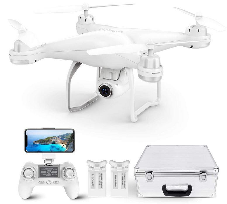 drone blanc de la marque Potensic avec camera 120 degre grand angle HD 2k