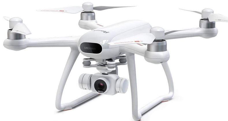 drone blanc de la marque Potensic modele Dreamer One pour adulte avec camera 4k et autonomie de vol de 31 minutes maximum