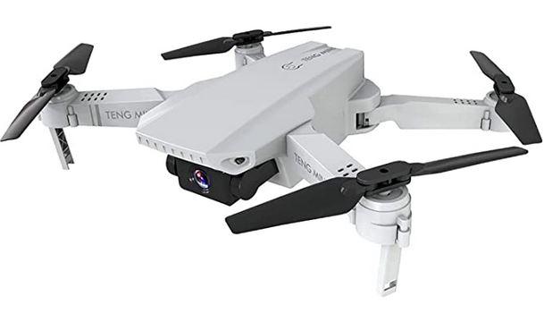 drone camera blanc avec une camera frontale et une camera a larriere de la marque 0Best