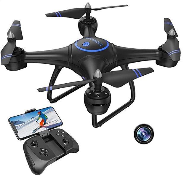 drone camera noir et bleu de la marque Akaso 31