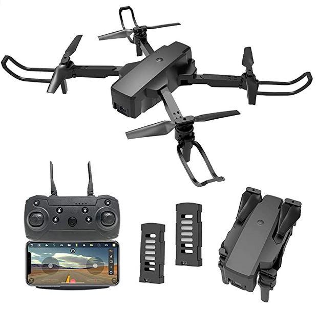 mini drone camera pliable noir avec resolution HD 4k et mode FPV marque Idea 18