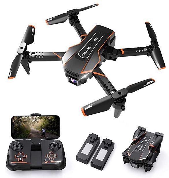 mini-drone dentree de gamme orange et noir de la marque Q10