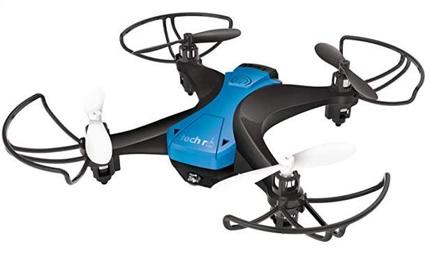 mini drone de la marque tech rc modele noir et bleu