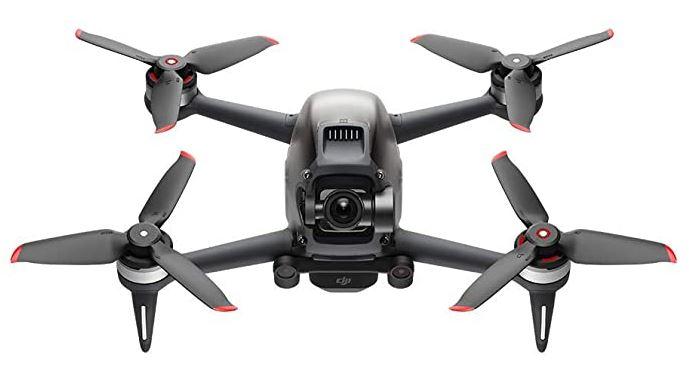 le drone DJI FPV combo noir et rouge avec une capacite de vol de 30 minutes
