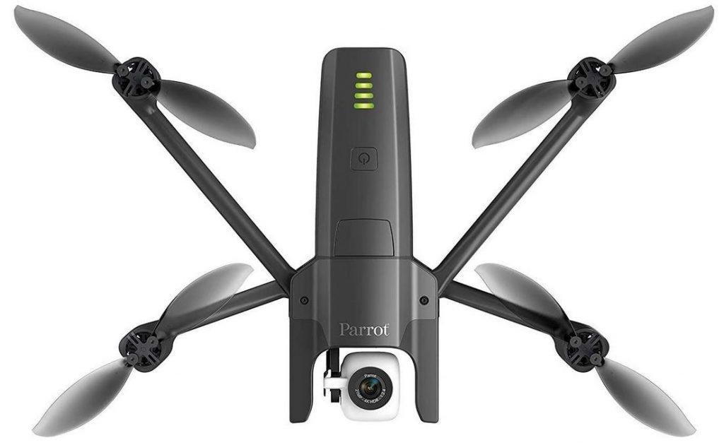 le drone Parrot Anafi FPV quadricoptere noir et camera blanche