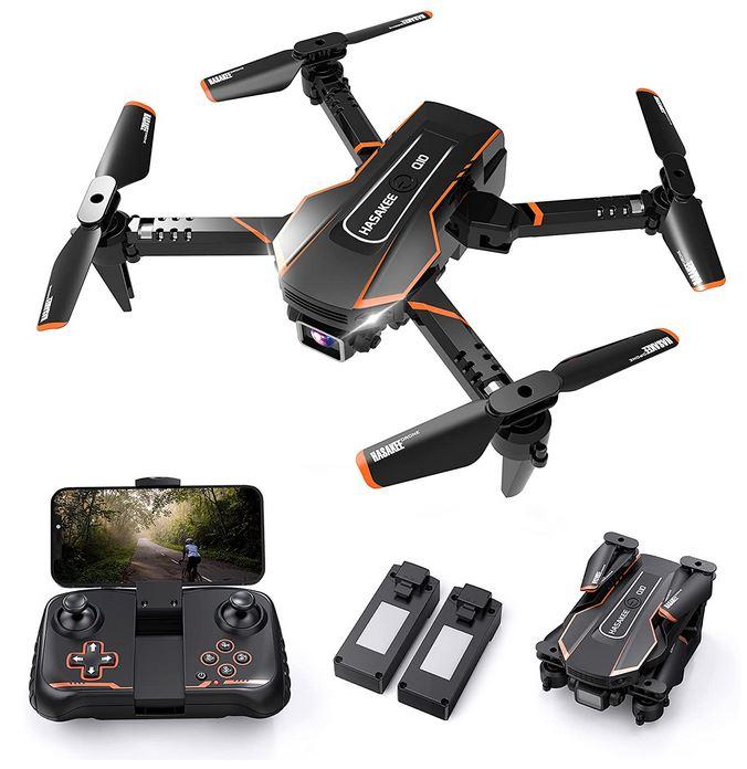 mini drone FPV noir et orange de la marque Q10